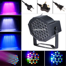 36W 36 RGB LED Par Lights Lamp Uk Plug For Club DJ Party Stage DMX Strobe