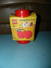 STORAGE BRICK ROUND Red Lego Legos NEW Single Peg Knob One Stud