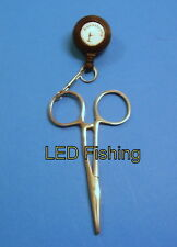 "6"" Anglers Curved Forceps and Zinger/Pin On Reel Combo for Fly Fishing"