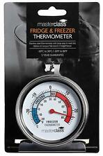 Fridge and Freezer Thermometer- Large Stainless Steel MasterClass- 10cm Dial