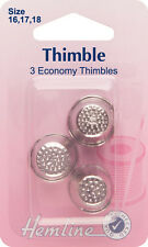 Thimble Metal 3 Assorted Sizes 16,17 & 18