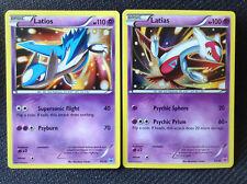XY Pokemon Cards LATIOS 30/30 & LATIAS 30/30 - 2015 TRAINER KIT HOLO PROMOS