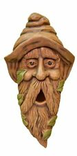 Outdoor Bird House Long Face Yard Garden Decor Sculpted Wood Mount Wall Tree