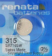 1 pcs 315 Swiss Renata Watch Batteries SR716SW SR716SW 0% MERCURY