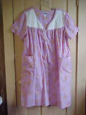 1X Womens Duster Robe Lilac floral SNAP front 2 open pockets