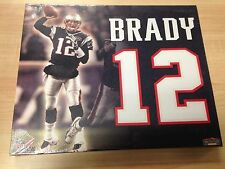 Tom Brady Jersey Number Collectible Canvas Picture Mounted Memories (BuyMVP)