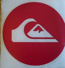 QUIKSILVER Skateboard Surf Wakeboard Snowboard Adesivo, Decalcomania 100mm ROSSO
