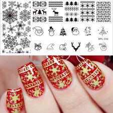 Weihnachten Thema Nail Art Stamping Schablonen BORN PRETTY BP-L032 12.5 x 6.5cm