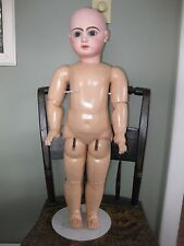 Antique 26 inch size 12 Jumeau closed mouth Doll on orig marked body