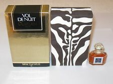 Vintage Guerlain Vol De Nuit Perfume Bottle & Box 1/4 OZ, 7.5 ML Sealed 3/4 Full