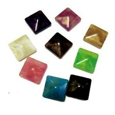 10 Pcs 24x24mm Solid Acrylic Plastic 2 Hole Square Beads - Mixed - A6941