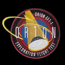 "NASA Orion Exploration Flight Test - 1 (EFT-1) Embroidered Mission Patch 6"" ver."