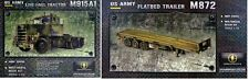 MINIMAN FACTORY 1/35 AM GENERAL US ARMY M915 TRUCK + M872 3-AXLE FLATBED TRAILER