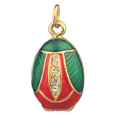 Faberge Egg Pendant / Charm with crystals 2 cm #P04-10B