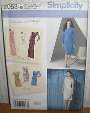 Womens/Misses Designer Inspired Dresses Sewing Pattern/Simplicity 2053/SZ 6-14/N
