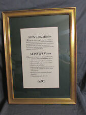 Mutual of New York The MONY Group Frame & Matted Company Mission Statement 18x24