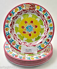 Tommy Bahama Melamine Patio Dinner 6 Plates Island Fiesta Floral NEW Patio