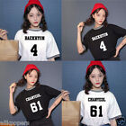Kpop EXO Women T-shirt Tops Tshirt Tee Sehun Baekhyun Chanyeol Lucky One Monster
