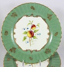 SET(S) 6 HORACE PRICE SIGNED ROYAL WORCESTER CHINA ART PLATES FRUIT GOLD GREEN