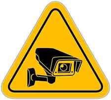 "Video Surveillance Security Sign Store Shop Window Vinyl Sticker Decal 4.5""X5"""