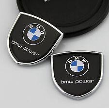 2pcs 3D Metall Auto Body Fenders Aufkleber Embleme LOGO für Schild Schwarz NEW