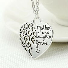 Women's Silver Plated Charm Hollow Heart-shaped Letter Necklace Hot Jewelry