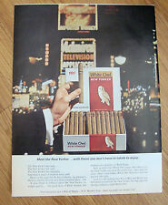 1964 White Owl New Yorker Cigar Ad  With Flavor you Don't Have to Inhale Enjoy