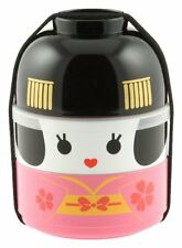 Cute Kotobuki Geisha Doll Bento Set Lunch Box Food Container Bowl