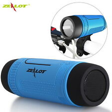 Zealot S1 Waterproof Bluetooth Stereo Flashlight Power Bank FM TF Speaker New