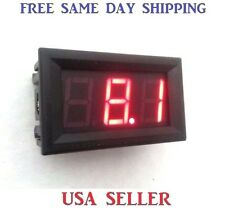 Digital 12V Red LED ~ Panel Meter Mini Voltmeter ~ DC 0V To 99.9V