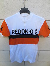 VINTAGE Maillot REDON OLYMPIC CYCLISTE ROC 70's cycling shirt jersey trikot XS