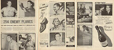 1944 WW2 print article America's 11 Top Aces down 254 Enemy Planes ! 062615