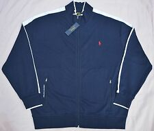New 4XL 4XL TALL 4XT POLO RALPH LAUREN Mens track Jacket Navy blue athletic RL