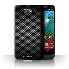 STUFF4 Case/Cover for Motorola RAZR i/XT890/Carbon Fibre Effect/Pattern/Grey