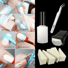 8pcs/Set Nail Art Peel Off Liquid Cream Palisade Polish Tweezer Stamper Sponge