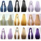 100cm Long Fashion Lady Costume Wig Straight Cosplay Party Anime Wig Hair Hot
