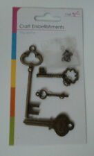BEAUTIFUL METAL CHARM EMBELLISHMENTS FOR CARDS & CRAFTS - SET 2