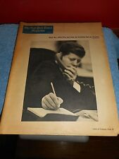 NEW YORK TIMES MAGAZINE JFK COVER NOV. 15TH 1964 AND POLITCS OF THE TIMES
