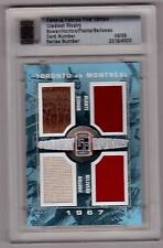 TIM HORTON BOWER JACQUES PLANTE JEAN BELIVEAU /10 ITG Jersey Glove Patch #9/9 SP