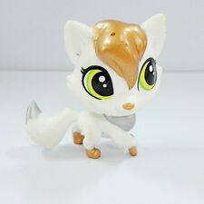 Littlest Pet Shop #45 LuLu FOXLEY White, Silver & Bronze Fox LPS toy