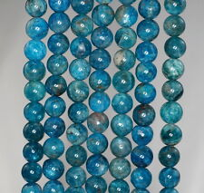 7-8MM APATITE GEMSTONE GRADE A  ROUND 7-8MM LOOSE BEADS 7.5""