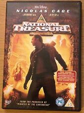 NATIONAL TREASURE DVD Nicolas Cage (Region 2) 2 Disc Edition