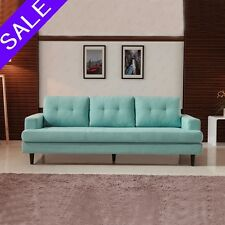 3 Seater Sofa Loveseat Lounge Chaise Couch Fabric Living Room Furniture Blue