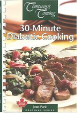 30 MINUTE DIABETIC COOKING Jean Pare COMPANYS COMING Cookbook RECIPES Quick EASY