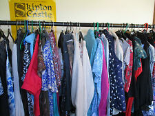 BUNDLE OF 20 ITEMS OF LADIES CLOTHES, SIZE 14 TOPS/TROUSERS/SKIRTS, EXC-CON
