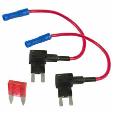 2 x Add A Circuit Piggy Back Fuse Tap Mini Blade Fuse Holder ATM ATP 12V