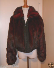 NEW BABY PHAT Reversible Burgandy Red Faux Fur Jacket Size Medium
