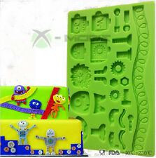 Robot Monsters childrens birthday cake silicone mould