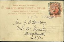 1899 used great britain and ireland postcard sent to massachusetts