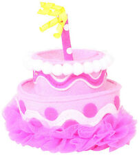 Mud Pie Baby-girls Newborn Birthday Cake Headband in Pink Felt - NEW